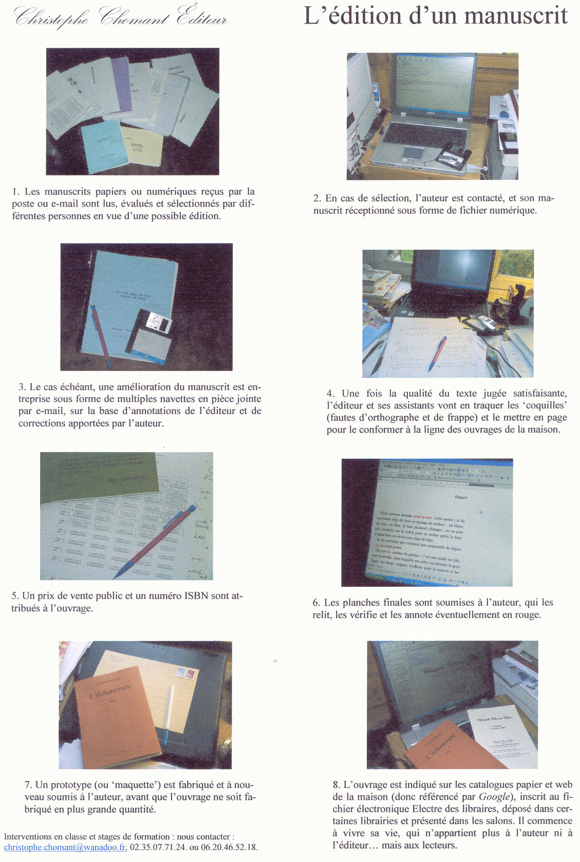 Fabrication du livre
